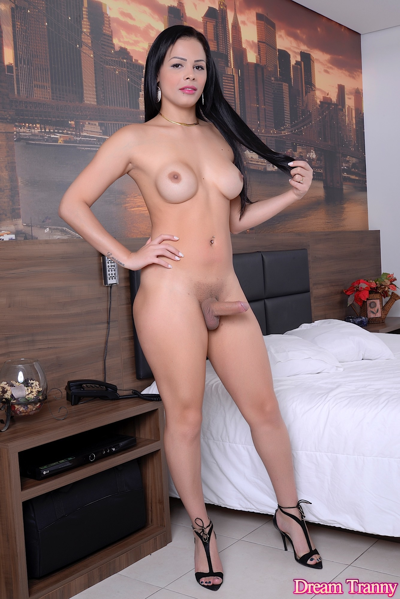 Tranny Nurse Bruna Castro gets naked for you | Dream Tranny